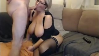 Crazy mature milf gets amazing creampie from her new boss