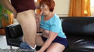 LustyGrandmas Mature Cougar Caught Touching her Box