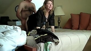 Cheating mature milf enjoying doggystyle sex with her new boss on vacation