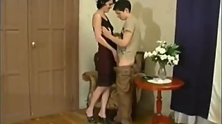 Taboo!!! Mature mother seduces and fucks her 18yo stepson with big cock