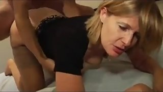 Shameless mature wife cheating on husband with her ex husband in hotel room