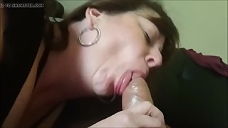 Mature Lady Passionate Blowjob