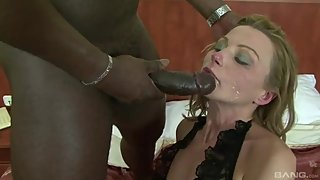 Big black cock and mature