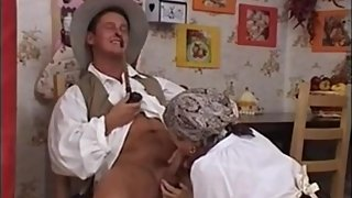 German Granny Takes Big Facial Cumshot