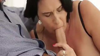 Mature lady gets big cock
