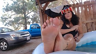 WET MATURE feet POV  while I smoke and ignore you