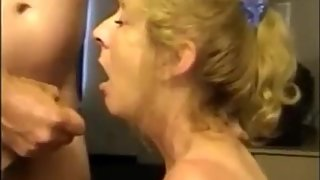 Hot Granny Suck Dick and Cum