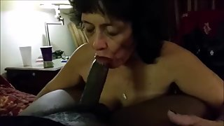 Granny Sucking BBC and Drink Milk