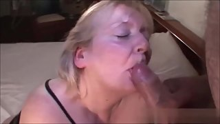 Hot Granny Taking a Big Load of Cum on Her Face