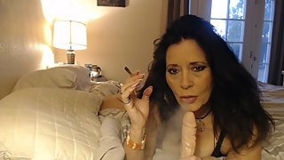 CUSTOM SMOKING video- jerking young cock with fingernail fetish