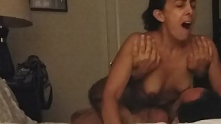 Mature soccer mom nipple play and loud moaning
