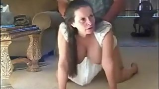 Mature busty mother loves doggystyle anal sex with her stepson