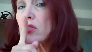 Busty mature redhead milf teaches her stepson how to cum inside her cunt