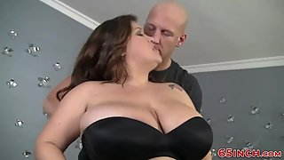 Greeneyed fatty fucks and swallows spunk