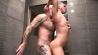 SHOWER SILVER DADDY FUCK