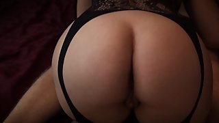 AriHellxx in Black Lingerie getting fuckd quietly
