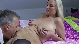 Mature beauty cuckolding her hubby