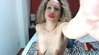 MATURE BLONDE CURLY BIANCA GAPING AND FISTING FOR WEBCAM