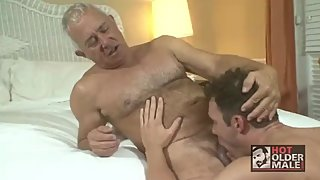 Hairy Grandpa fucked by a muscular young jock