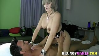 HARD SEX OF MARCO FLAGS TO MARIA DE BRUNOYMARIA AND FACIAL IN THE FACE