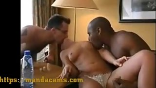 INTERRACIAL threesome for horny wife