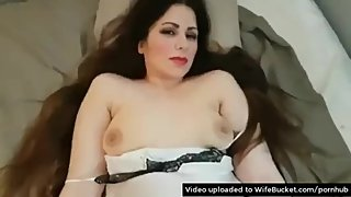 POV video of a trophy arab wife getting pumped good