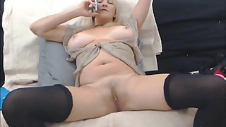 Phone sex experience with a blonde