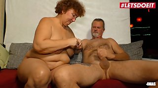 LETSDOEIT - Chubby Mature German Lady Rides A Big Cock