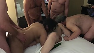 Liz busy with interracial gang bang - being used like a slut wife part 2
