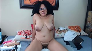 Pervert experienced Latina MILF with big natural tits