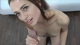 Beauty step-mom cheating first time from stepson!