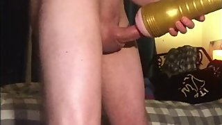 FIRST TIME WITH FLESHLIGHT STU LEADS TO BIG PREMATURE CUMSHOT