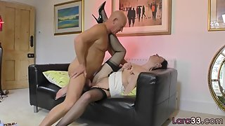 Dicksucking euro beauty getting creampied