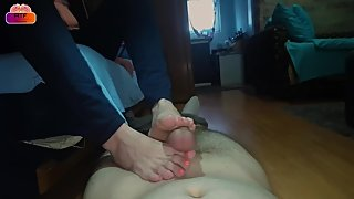 Mature female colleague wants to try footjob