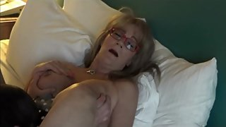 Big Titted Mature GiGiJuggs smokes while pussy gets eaten Smoking MILF Tits