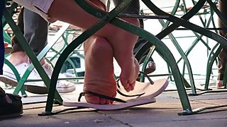 Mature Italian Mom Flip Flop Dipping 2