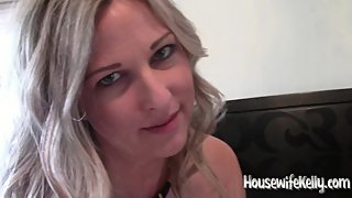 Horny housewife sucks and rides a big cock while hubby holds the camera