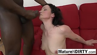 Brunette mature needs a big black cock to fuck her ass