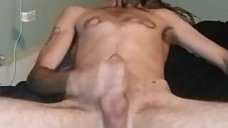 Best Solo Male masturbation. Hot mature tattooed guy with big dick.