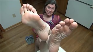 Big Smelly Feet Propped Up (GoldSole57)