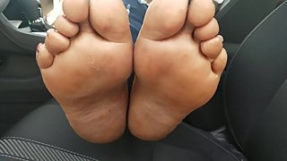Mature Ebony Soles at Dollar Store