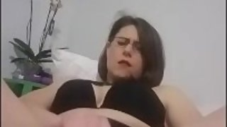 (Full vid w/ Orgasm) NoelleMorrison- Self Love in Lingerie and Glasses
