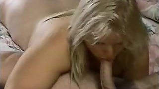 A pretty company blonde supervisor sucking my cock before my retirement