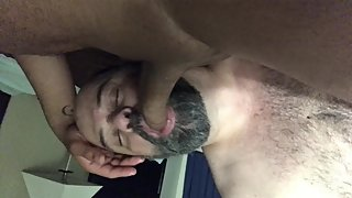 Sucking meaty Egyptian cock