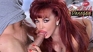 Mature redhead Sexy Vanessa loves his big cock