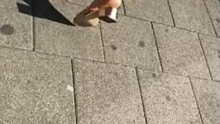 Candid arab mature soles in mules part 2 slowmotion