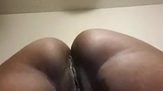 Ebony mature lady playing with her wet pussy for me