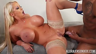 Alura Jenson in Interracial Fraternity Fuck