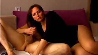 My mature stepmom having a real orgasm with my best friend