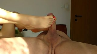 Insatiable MILF`s Wild Fuck, Footjob and Golden Shower